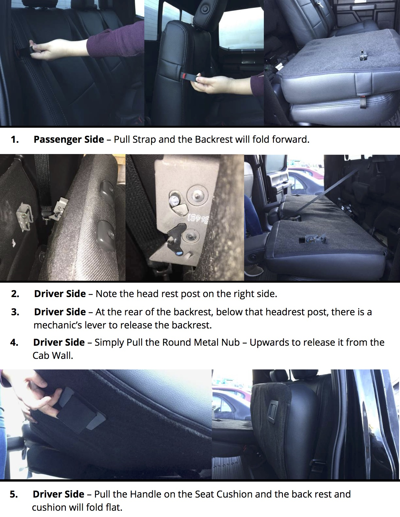 2015-2019 Ford F150 Rear Seat Covers Installation Tips