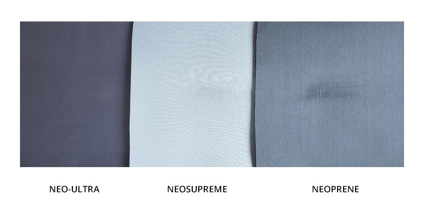 Northwest tested Neo-Ultra fabric vs Neosupreme & Neoprene fabric