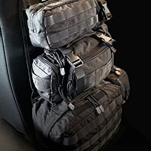 tactical storage, bag organizer, seat bag organizer