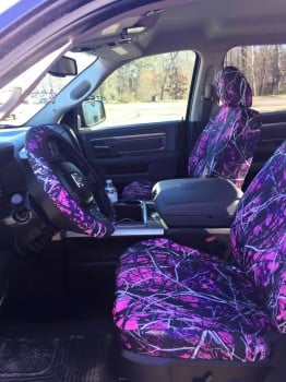 All Pink Muddy Girl Seat Covers And Steering Wheel
